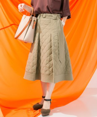 【WORKNOTWORK】キルティングタックボリュームスカート