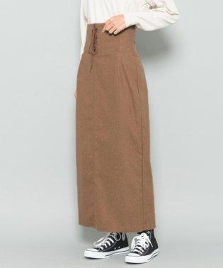 【SENSEOFPLACE】レースアップロングタイトスカート