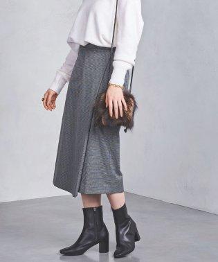 UWSC チェック ラップスカート