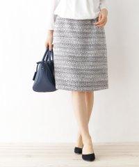 【洗える】ミックスツィード スカート