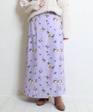大花プリントマキシスカート
