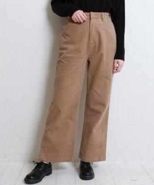 コーデュロイ裾ベンツ開きパンツ
