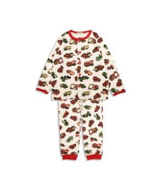Boy's働くクルマ総柄前開きパジャマ