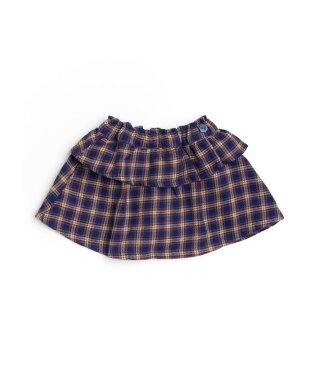 チェック柄インパンツ付きスカート