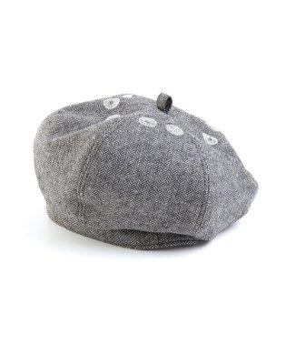 刺繍ベレー帽