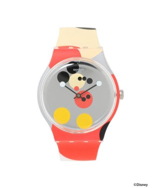 """Swatch / New Gent """"MIRROR SPOT MICKEY MOUSE"""" 2針ウォッチ"""
