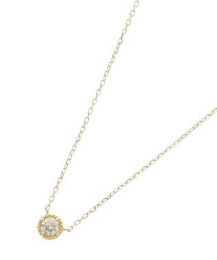 K18ダイヤモンド フチミルネックレス(大)