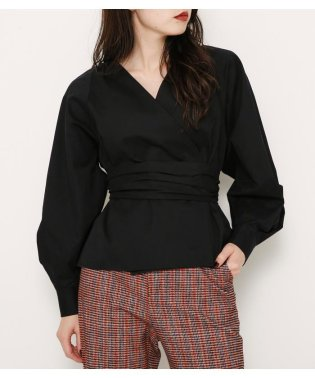 BELTED PUFF SLEEVE BL
