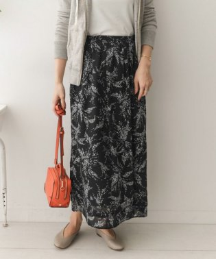 【予約】シフォンドットフラワープリントスカート