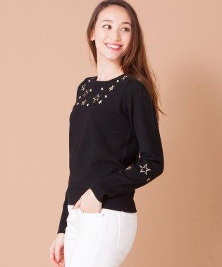 【BEATRICE】星型刺繍×ビジューニットプルオーバー