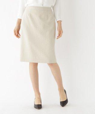 【マシンウォッシュ/UV】リネン風ストレッチスカート