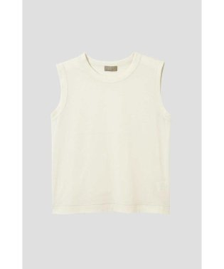 COTTON LINEN SLEEVELESS JERSEY
