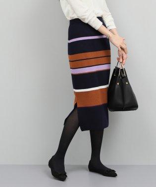 【セットアップ対応】フルニードルタイトスカート(ボーダー)