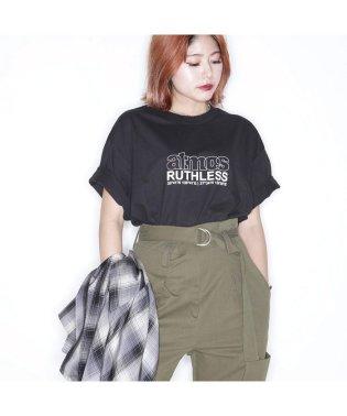 ルスリス × アトモス ピンク ベイシック Tシャツ