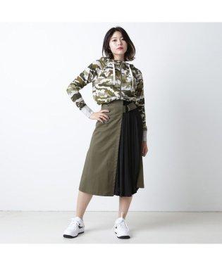 アトモスピンク アシメ プリーツ ラップ スカート
