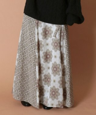 SLOBE IENA Fi.m サラサストライプ巻きスカート