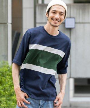 【SonnyLabel】パネル切替五分袖Tシャツ