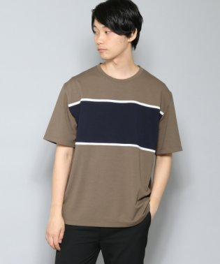 【SENSEOFPLACE】カラーブロックドT(5分袖)