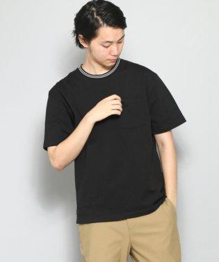【SENSEOFPLACE】ラインリブT(5分袖)