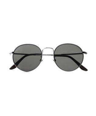 ラウンドメタルサングラス