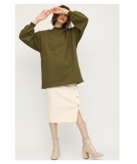 FRONT BUTTON RIB KNIT SK