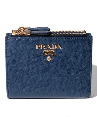 【PRADA】2つ折り財布/SAFFIANO METAL ORO【BLUETTE】