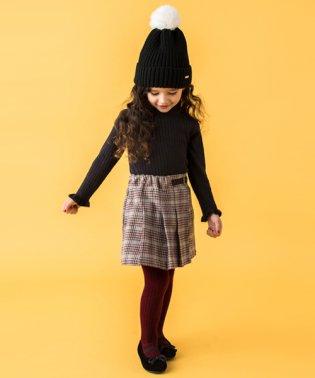 プリーツラップ風キュロットスカート