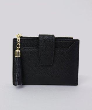 【牛革】タッセルチャーム2つ折り財布