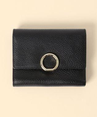 【牛革】リングチャーム2つ折り財布