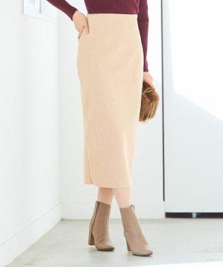 ウールボンディングロングタイトスカート
