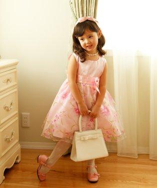 お姫様柄プリントのオーガンジープリンセスドレス