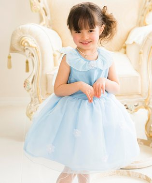 妖精のようなオーガンジーとお花のカラードレス