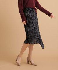 Grace&Mila/チェックラッププリーツスカート
