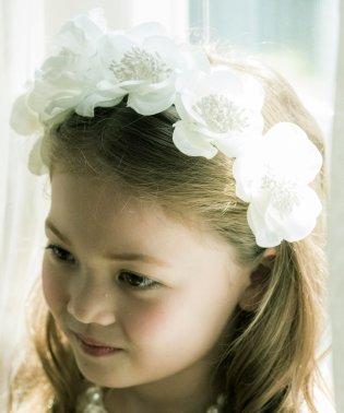 真っ白な花冠♪フラワーカチューシャ