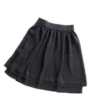 ラメゴムレイヤードスカート