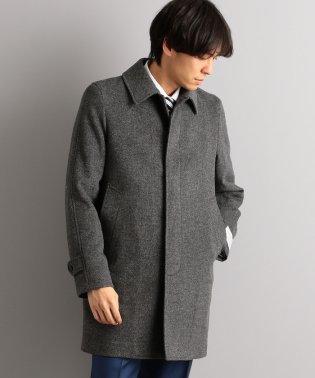 W/カシミヤ ハウンドトゥース ステンカラー コート