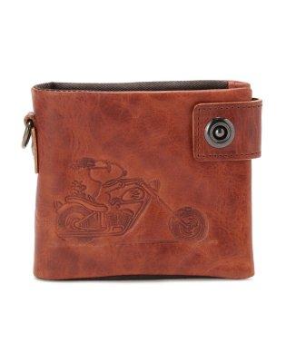 PEANUTS /スヌーピー/ライダーベラ付き二つ折り財布