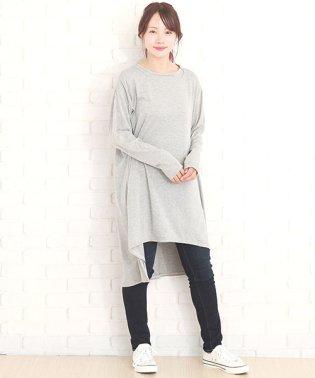 サイドスリットワンピース 韓国 ファッション レディース かわいい ゆったり シンプル 上品【A/W】【vl-5304】