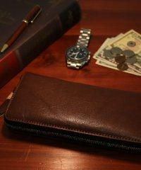 【magaseek/d fashion限定】【IGGIN BOTTOM】【WEB限定】栃木レザーラウンドファスナー長財布