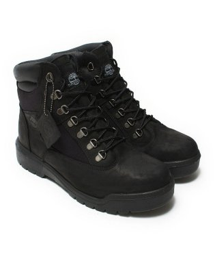 "Timberland Field Boot 6"" Fabric And Leather Waterproof  Black"