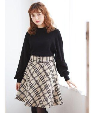 チェック柄フレアミニ/スカート