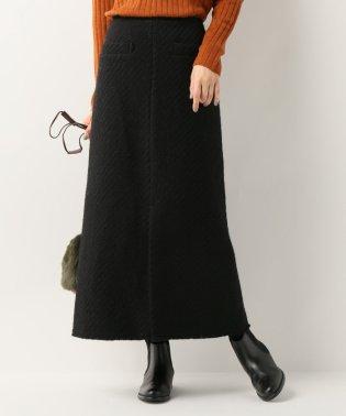 バスケット織りロングスカート