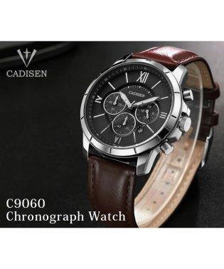 〈CADISEN/カディセン〉C9060 クロノグラフ レザーベルト 腕時計