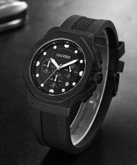 〈CADISEN/カディセン〉C9058 スポーツ ミリタリー クロノグラフ ラバーベルト 腕時計