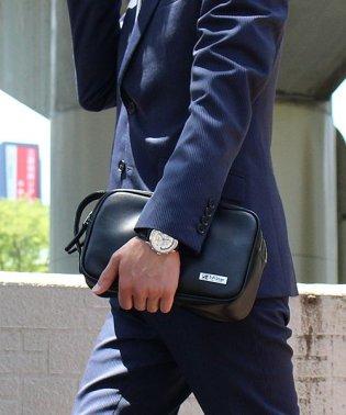セカンドバッグ メンズ 豊岡製 鞄 革 ダブルファスナー 日本製