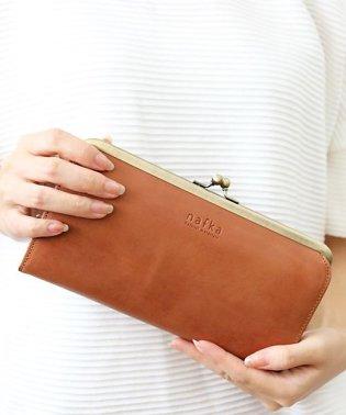 財布 長財布 レディース がま口 本革 薄い ギャルソンウォレット 日本製 がま口財布 nafka