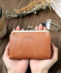 財布 折り財布 レディース がま口 本革 薄い ギャルソンウォレット 日本製 がま口財布 nafka