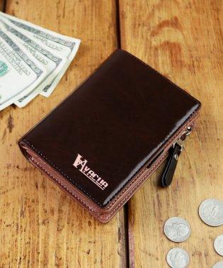 財布 二つ折り メンズ 二つ折り財布 本革 牛革 L字ファスナー 大容量 VACUA