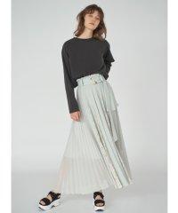 プリーツディテールスカート