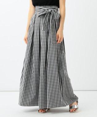 Demi-Luxe BEAMS / ギンガムチェック ロングスカート
